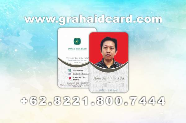 ukuran id card karyawan photoshop